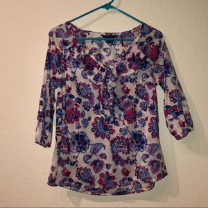 Tommy Hilfiger Ruffle Floral Blouse xs